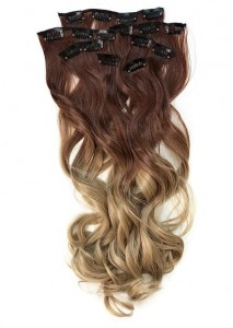 Zestaw Clip-in Loki # 6/20 - Ombre Ciemny blond / Blond cappuccino 60cm